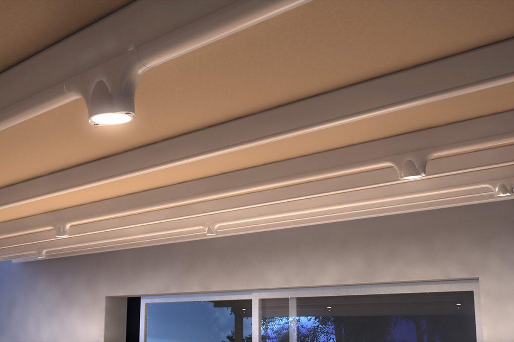 Σύστημα φωτισμού με φωτιστικά τύπου σποτ