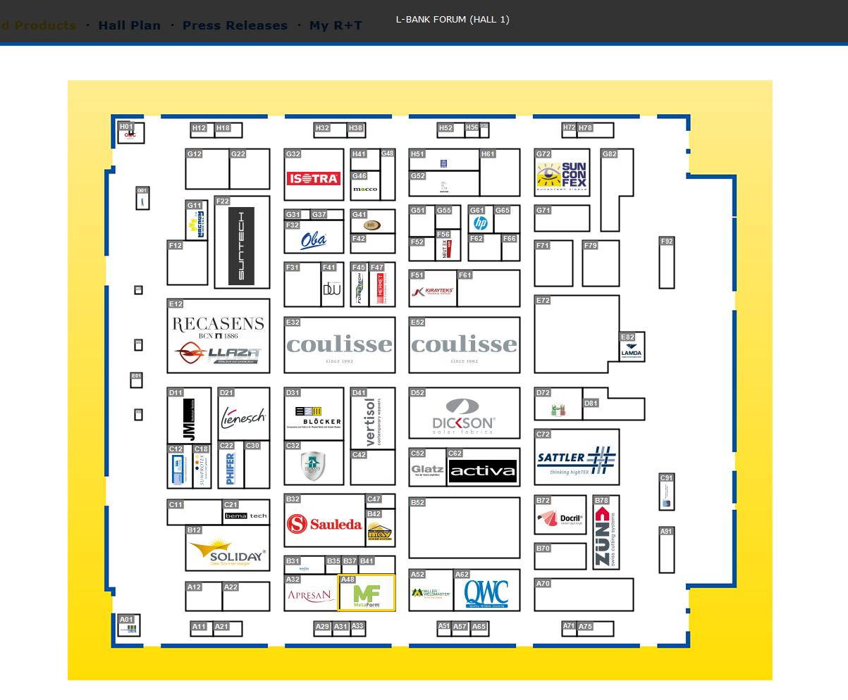 Messe R+T Stuttgart 2018 - Χάρτης