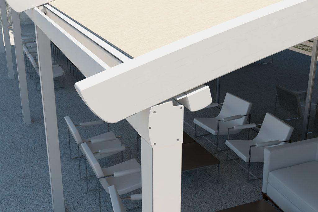 Arch mit Geländer – Dachrinne 160 x 140